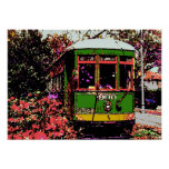 New Orleans Streetcar Fauvist Colors Print