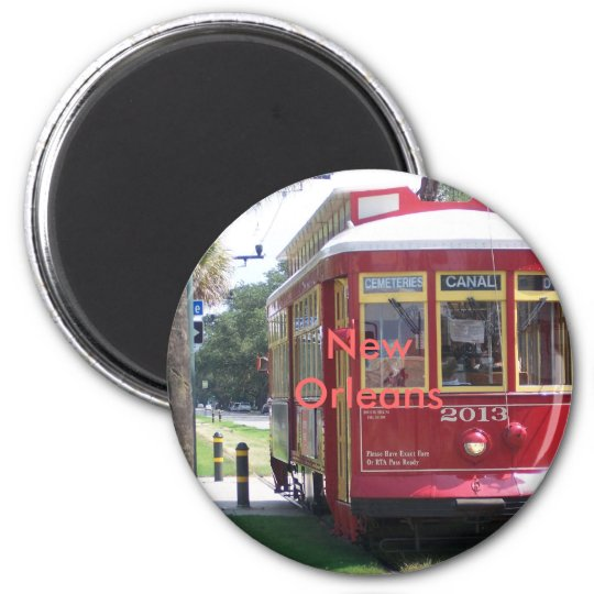 New Orleans Streetcar Magnet