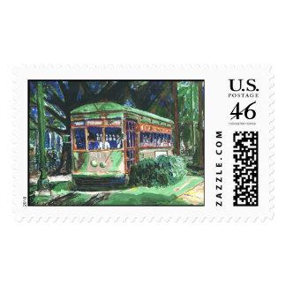 New Orleans Streetcar Postage Stamp