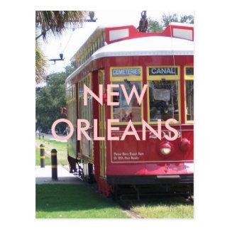 New Orleans Streetcar Postcard
