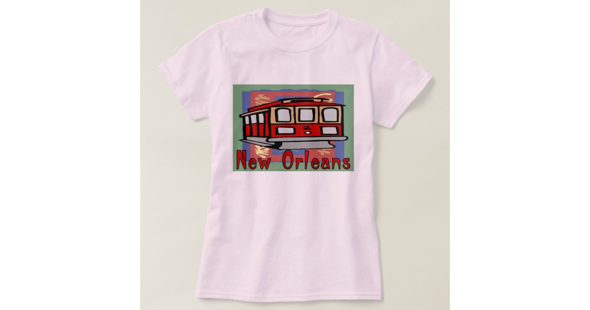 New orleans streetcar t shirt zazzle for T shirt printing new orleans