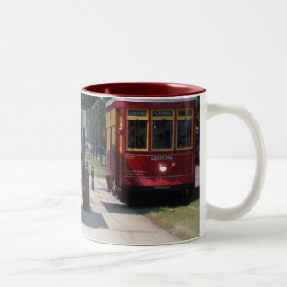New Orleans Streetcar Two-Tone Coffee Mug