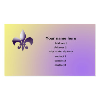 New Orleans Style Fleur de Lys Double-Sided Standard Business Cards (Pack Of 100)