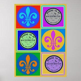 New Orleans Symbols print