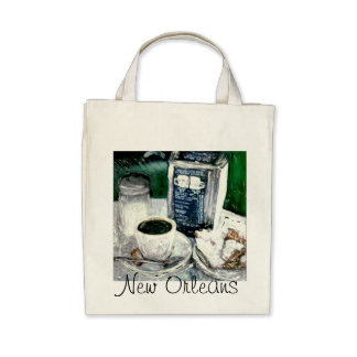 NEW ORLEANS THEME TOTE BAG