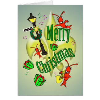 New Orleans Themed Merry Christmas Card