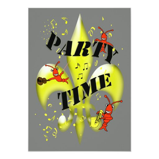 New Orleans Themed Party Invitation 5 X 7 Invitation Card Zazzle