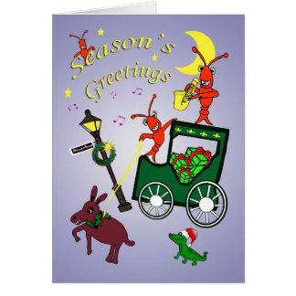 New Orleans Themed Season's Greetings Card