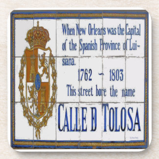 New Orleans Toulouse St Mural Beverage Coaster