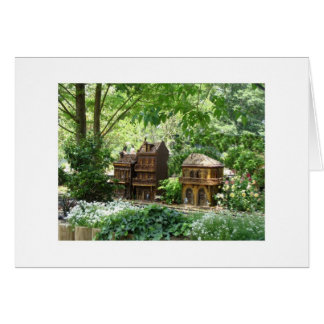 New Orleans Train Garden Buildings Stationery Note Card