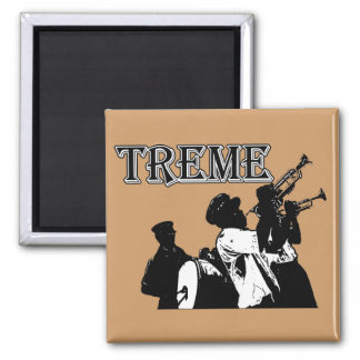 New Orleans, Treme 2 Inch Square Magnet