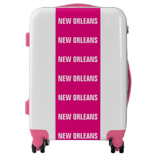 NEW ORLEANS, Typo white / pink Luggage