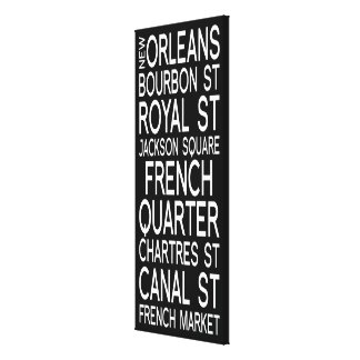 New Orleans | Typography Stretched Canvas Prints