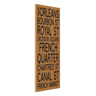 New Orleans | Typography Gallery Wrap Canvas