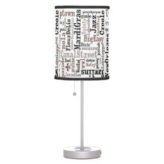 New Orleans Typography Lamp and Shade