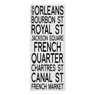 New Orleans| Typography Posters