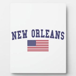 New Orleans US Flag Plaque
