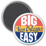 New Orleans Vintage Label 3 Inch Round Magnet