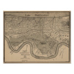 New Orleans Vintage Map Poster at Zazzle