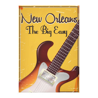 New Orleans vintage style travel poster Canvas Print