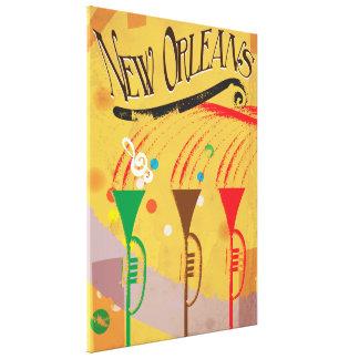 New Orleans Vintage Travel poster Canvas Print