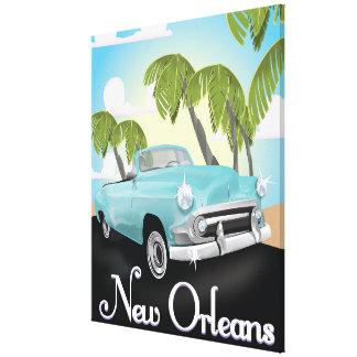 New Orleans vintage travel poster. Canvas Print
