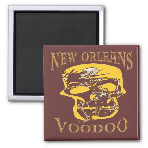 New Orleans Voodoo 2 Inch Square Magnet