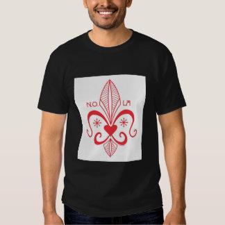 New Orleans Voodoo Fleur de Lis RED T Shirt