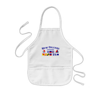 New Orleans w/ Maritime Flags Kids' Apron