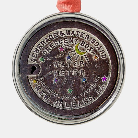 New Orleans Christmas Ornaments.New Orleans Water Meter Christmas Ornament