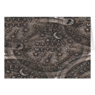 New Orleans Water Meter Cover Card