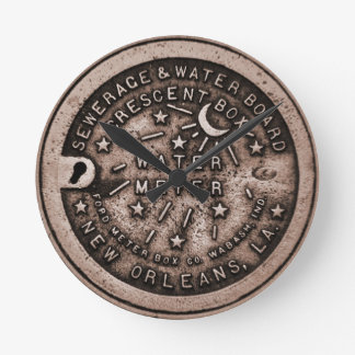 New Orleans Water Meter Cover Clock Face