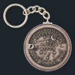 """New Orleans Water Meter Cover Keychain<br><div class=""""desc"""">New Orleans Water Meter Cover on a Key Chain.</div>"""
