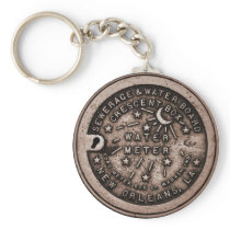 New Orleans Water Meter Cover Keychain