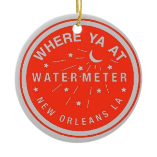 New Orleans Water Meter Cover Red ornament