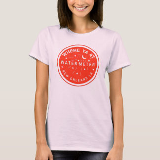 New Orleans Water Meter Cover Red T-Shirt