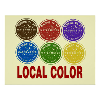 New Orleans Water Meter Local Colors Print
