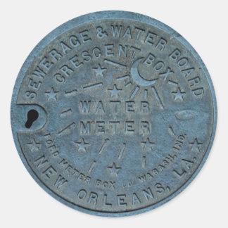New Orleans Water Meter photo Round Sticker