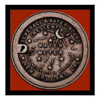 New Orleans Water Meter Wall Art Poster