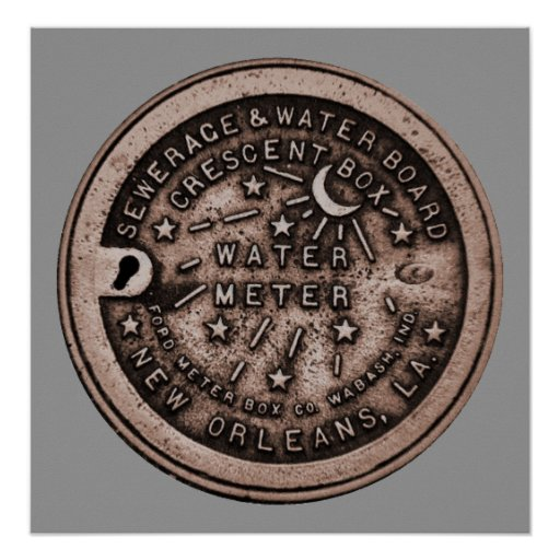 New Orleans Water Meter Wall Art Posters Zazzle