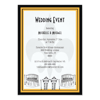 New Orleans Wedding Event Invite