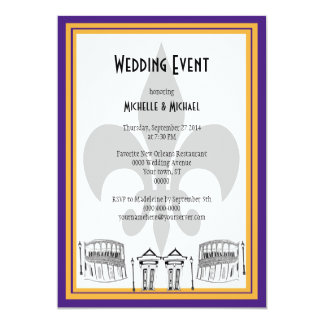 New Orleans Wedding Event Invite (purple)
