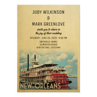 New Orleans Wedding Invitation Vintage Mid Century