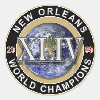 NEW ORLEANS - World Champions 2009 Classic Round Sticker