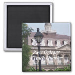 New Orleasn French Quarter 2 Inch Square Magnet