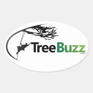 New Oval Sticker With TreeBuzz Logo