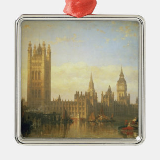 New Palace of Westminster from the River Thames Metal Ornament