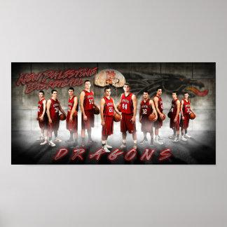 New Palestine Dragons Basketball Print
