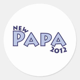 New Papa 2012 Classic Round Sticker
