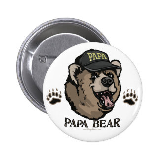New Papa Bear Father's Day Gear Pinback Button